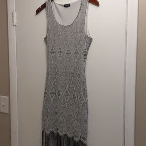 Venus Silver Midi Dress, Never Worn